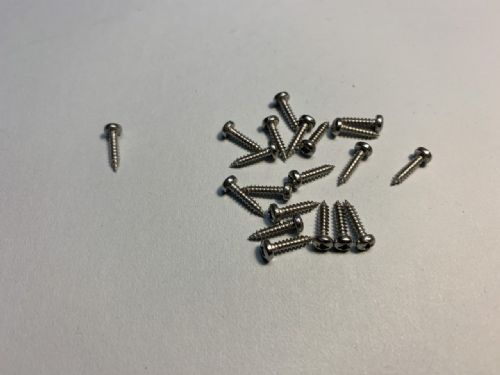 Stainless steel screws 2.2 x 9.5mm - pack of 20